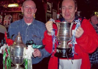 Me and Savvy, league of ireland championship trophy, Sn 1st div trophy (2)